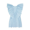 DRESS EVE BLUE STRIPE/SWISS DOT