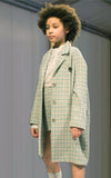 miss L. Ray Arielle Coat green/beige children and teen fashion