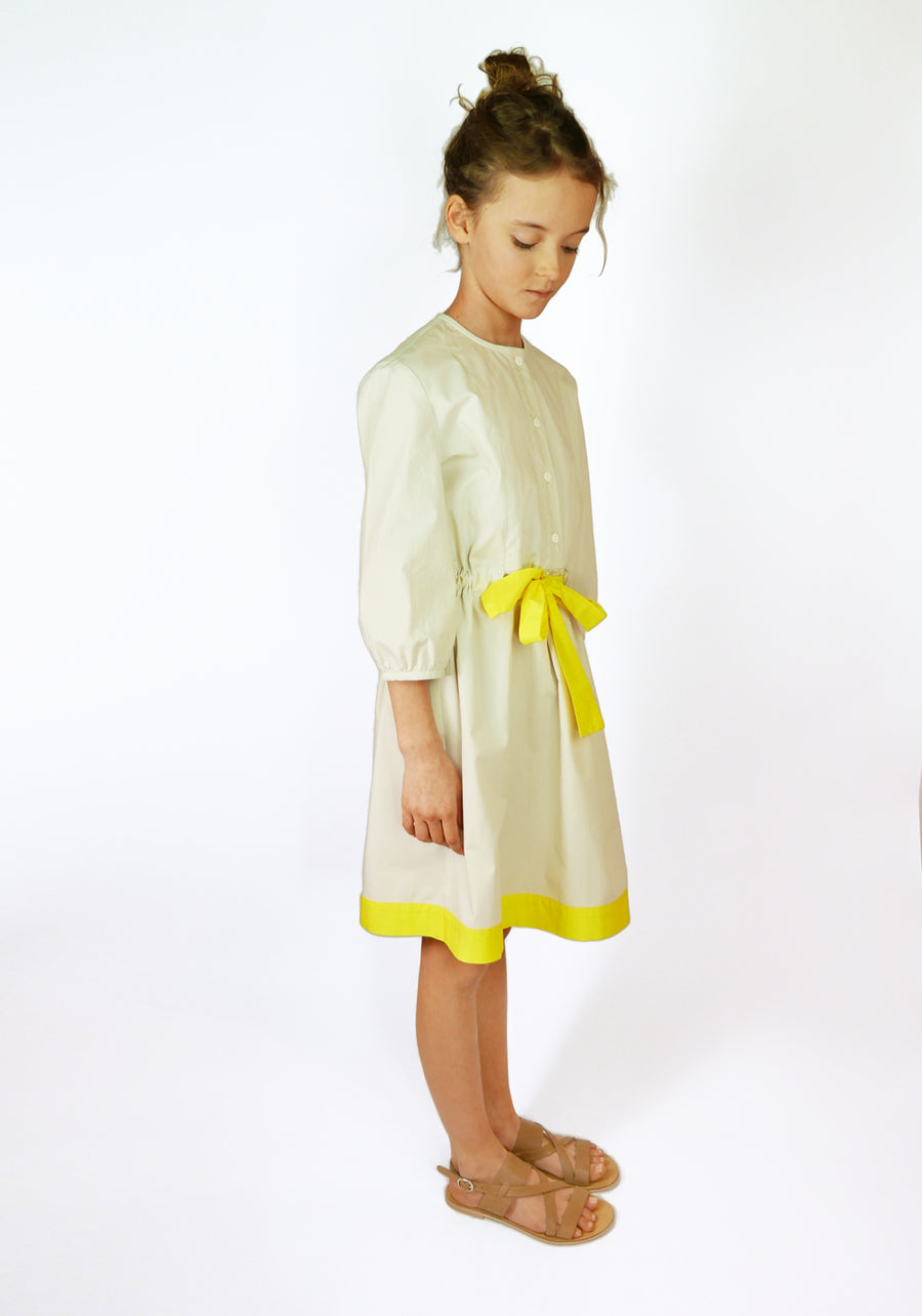 Miss L. Ray Dress Everly vanilla/yellow children and teen fashion