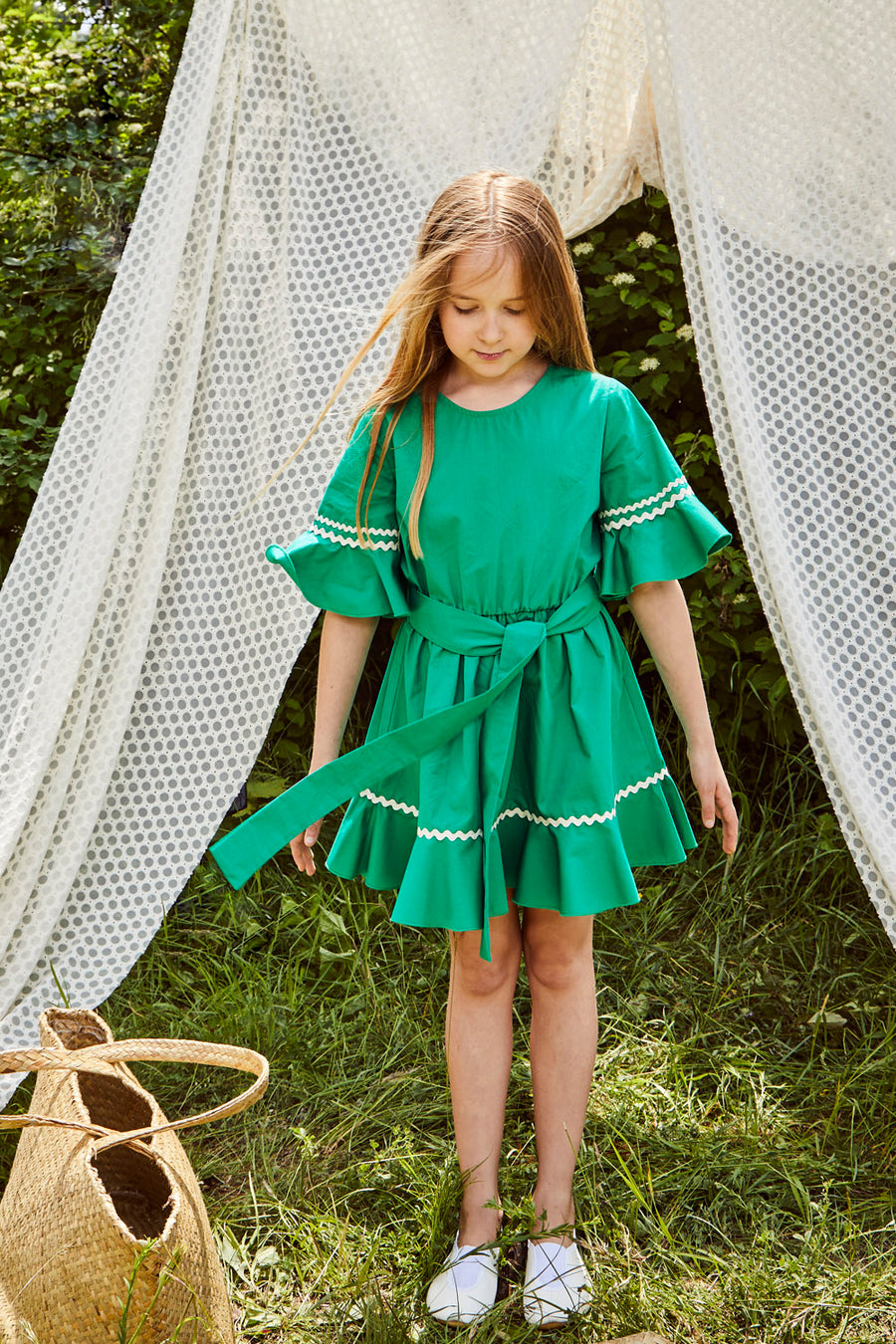 DRESS ELLIE FOREST GREEN