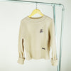 miss L. Ray Avery cashmere sweater beige children and teen fashion