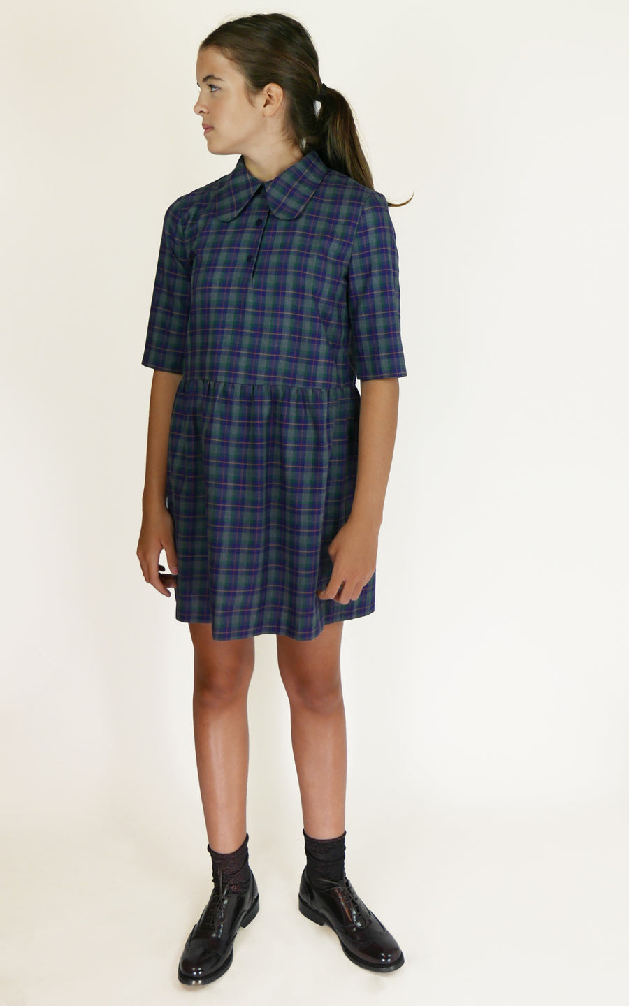 miss L. Ray Ondine dress highland blue/green children and teen fashion