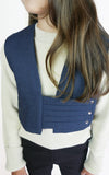 miss L. Ray Dillon gilet slate blue children and teen fashion