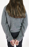 miss L. Ray Avery sweater grey/brown merino children and teen fashion