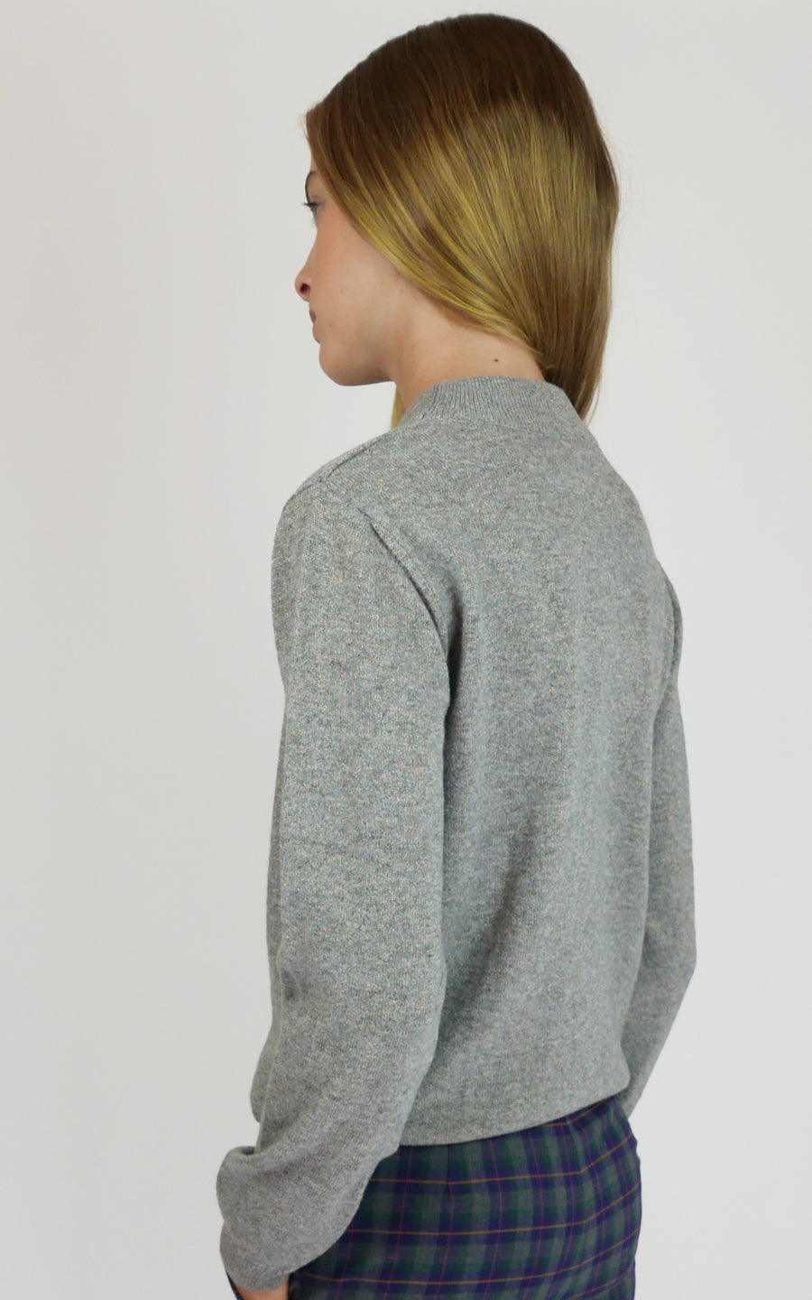 miss L. Ray Sophie cashmere sweater grey children and teen fashion