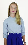 miss L. Ray Sophie cashmere sweater light blue children and teen fashion