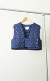 miss L. Ray Dillon gilet cobalt blue children and teen fashion