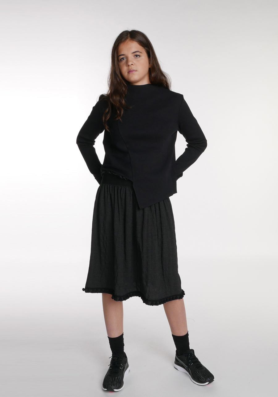 Miss L. Ray teen fashion and childrenswear Skirt Patty charcoal check