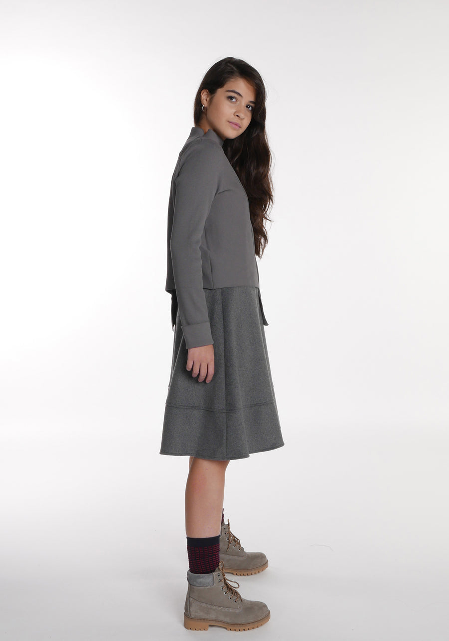Miss L. Ray teen fashion and childrenswear Skirt Ellie grey