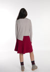 Miss L. Ray teen fashion and childrenswear Skirt Ellie burgundy red