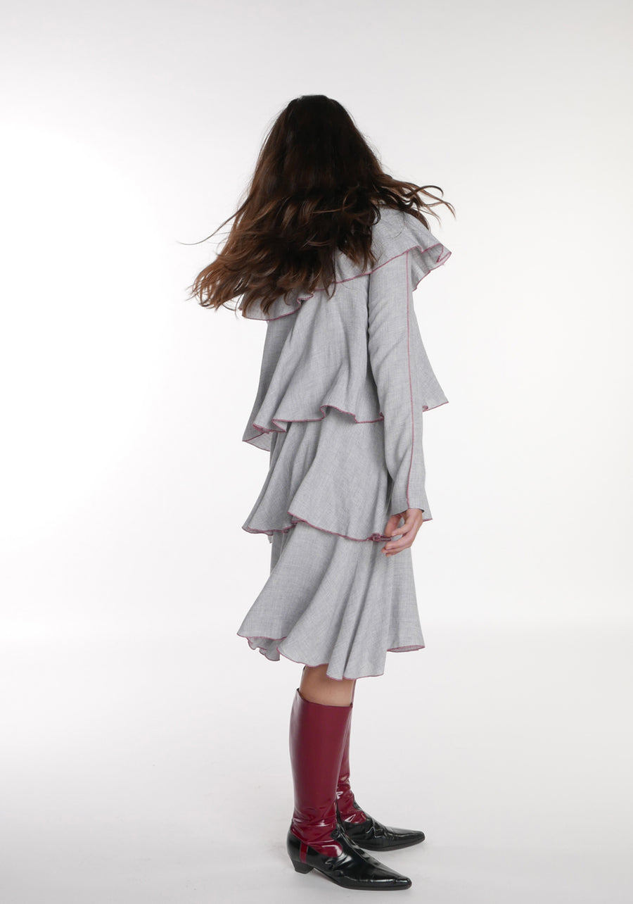 Miss L. Ray teen fashion and childrenswear Dress Bess grey