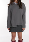 Miss L. Ray teen fashion and childrenswear Sweater Lark grey/charcoal