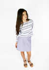 Miss L. Ray Skirt Rhea navy stripes children and teen fashion