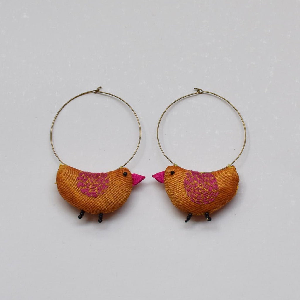 Bulbul Earrings -Yellow- BU-E2