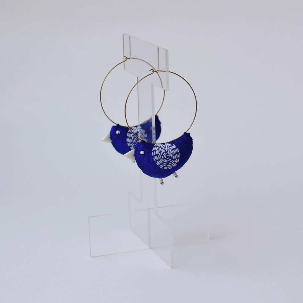 Bulbul Earrings -Blue- BU-E3