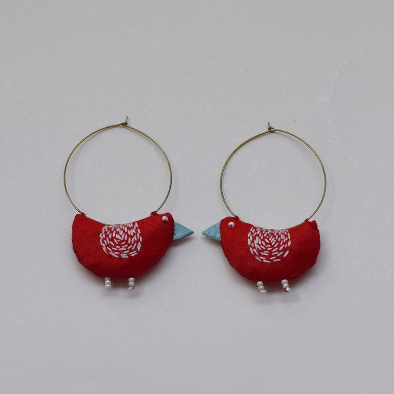 Bulbul Earrings -Red BU-E5