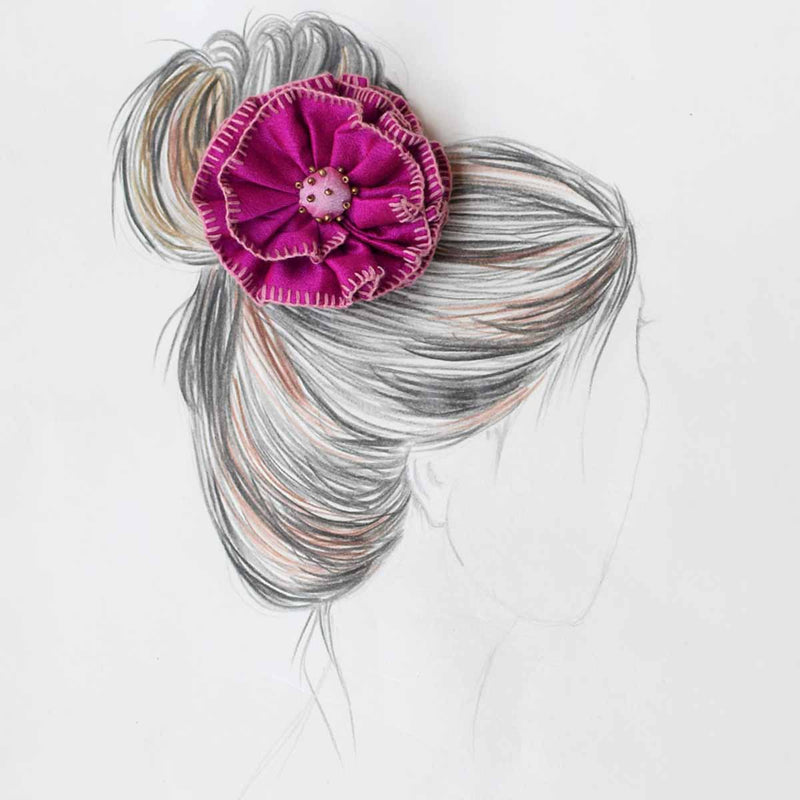 Phoolwanti HairPin-DarkPink PH-PI1