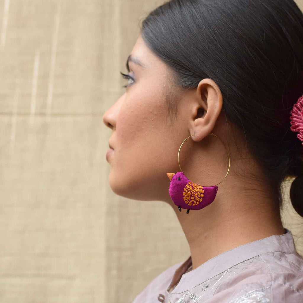 Bulbul Earrings -Purple-BU-E11