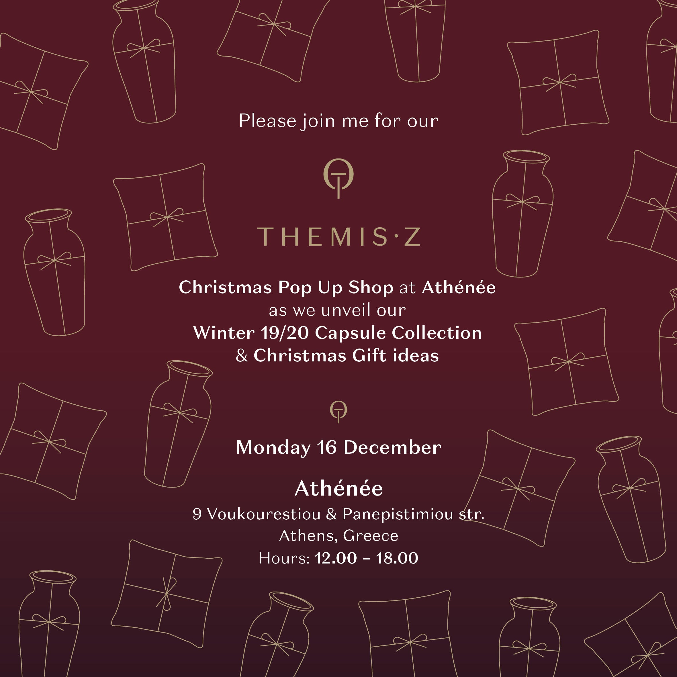 Pre-Christmas Pop Up Store Event - 16 December 2019 - Athens