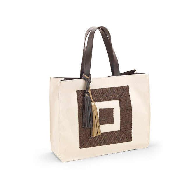 Infinity Canvas Beach Bag