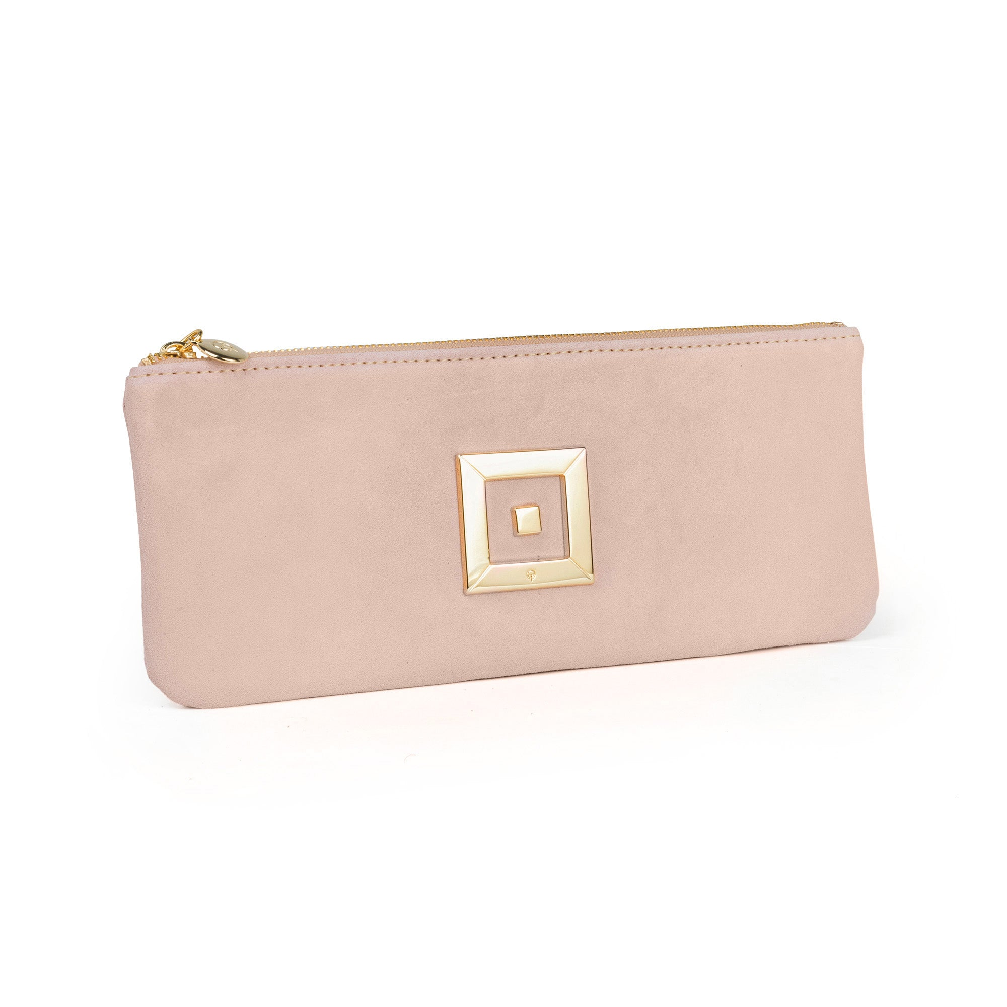 Clutch Suede Gold Long