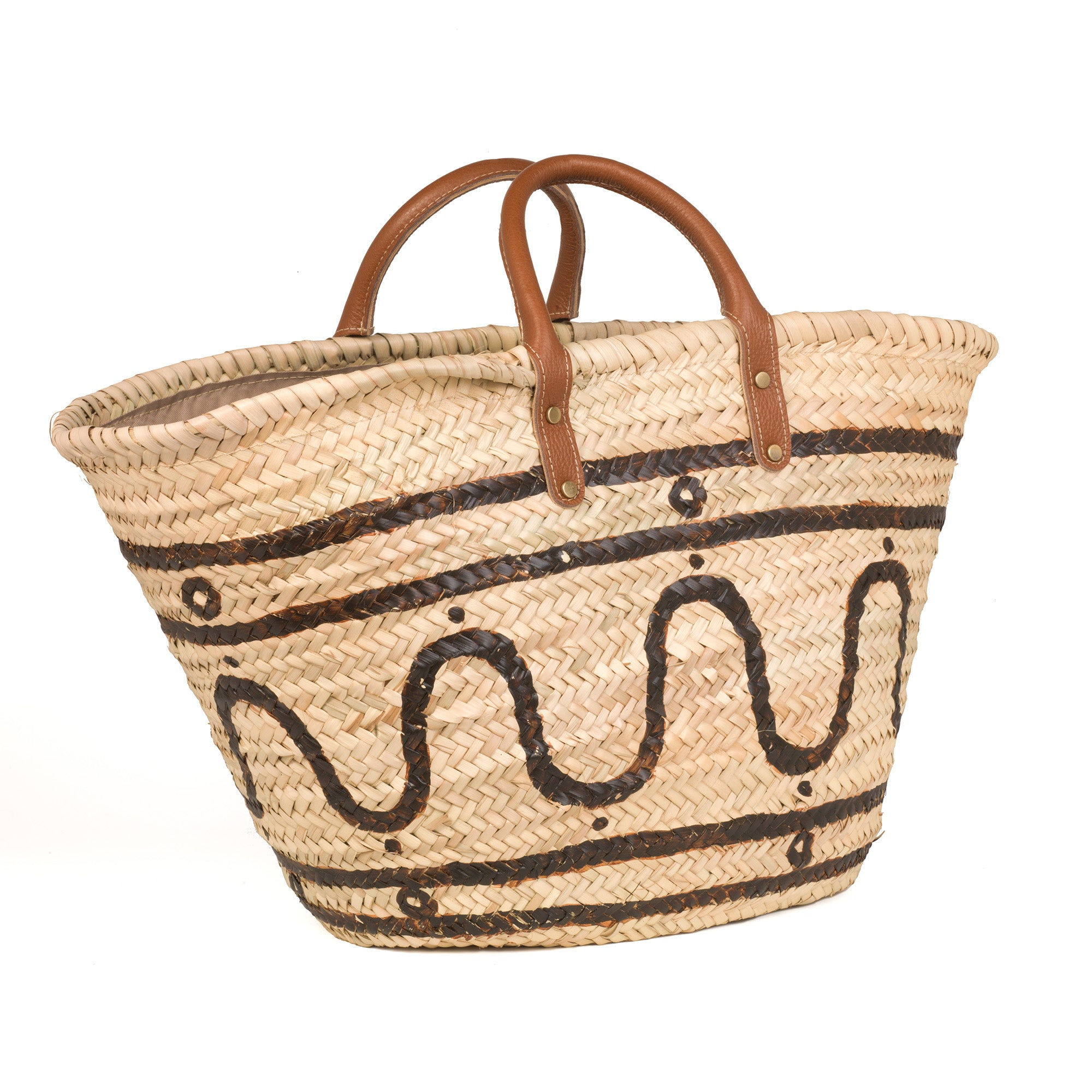 Kyma Basket with Leather Handles