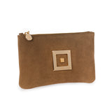 The Infinity Pochette Suede Gold