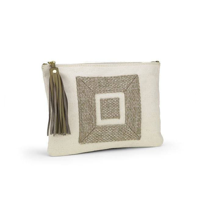 The Infinity Canvas Clutch