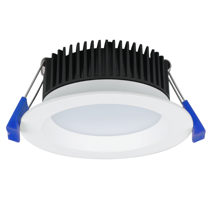 12 x 8W LED Downlight 90-100mm cut hole, 108mm overall, 3000K warm white, 700+ lumen, IP44, dimmable ($12.00 EACH)