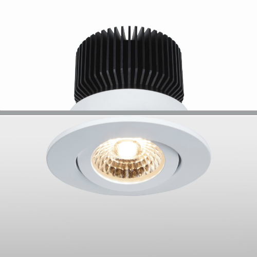 LED Downlight Spot Tiltable 13W CCT Sunset Dimming 3000K-2000K, High Colour Rendering Environment