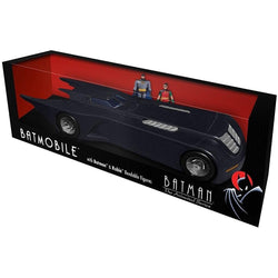 "Btas - Batmobile With 3"" Batman & Robin Action Figure"