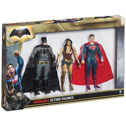 Batman Vs Superman 3 Piece Bendable Action Figure Set