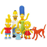 Simpsons Family Bendable Figures Boxed Set