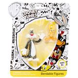 Sylvester & Tweety 2 Pack Bendable Figure Set
