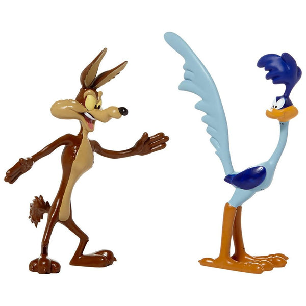 Wile E. Coyote & Roadrunner 2 pack Bendable Figure Set