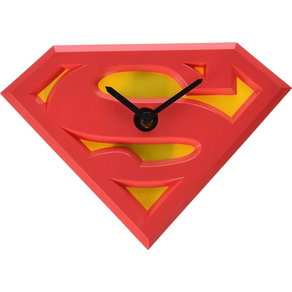 Superman Logo Wobble Clock