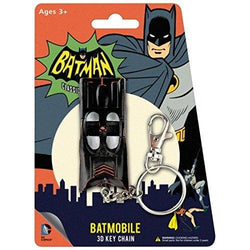 Batmobile Bendable Action Figure With Ring Hanging Keychain