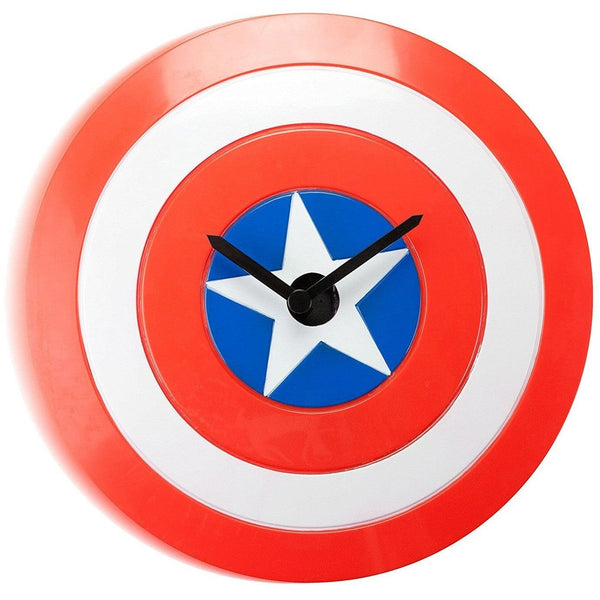Captain America Shield Wobble Clock