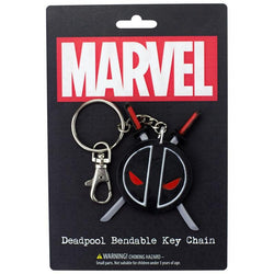 "Deadpool Logo 3"" Bendable Toy With Ring Keychain"