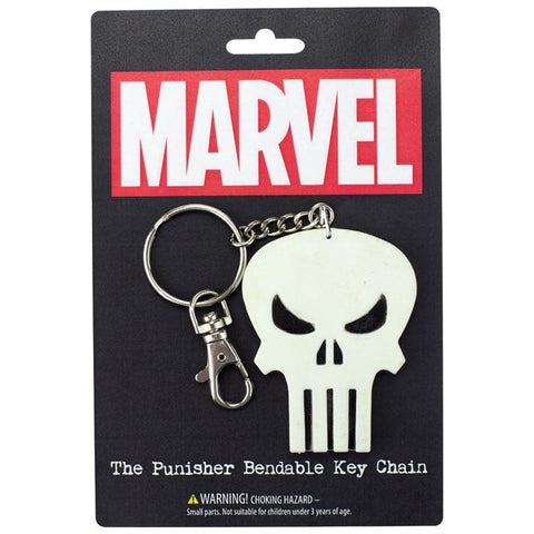 "The Punisher Skull 3"" Bendable Toy With Ring Keychain"