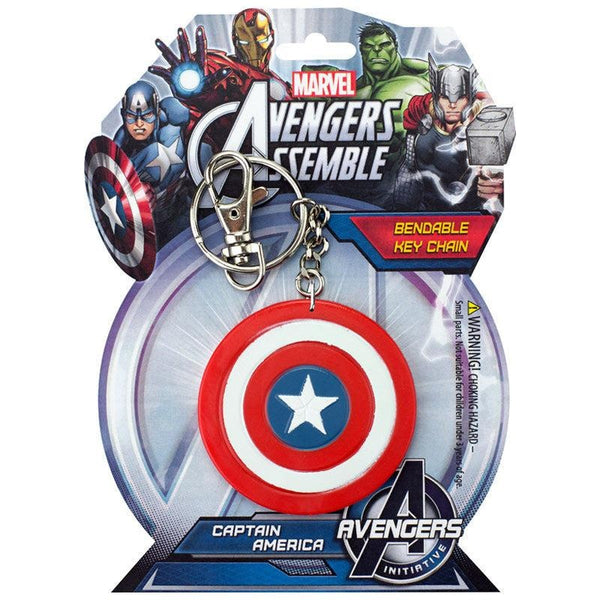 "Captain America Shield 3"" Bendable Toy With Ring Keychain"