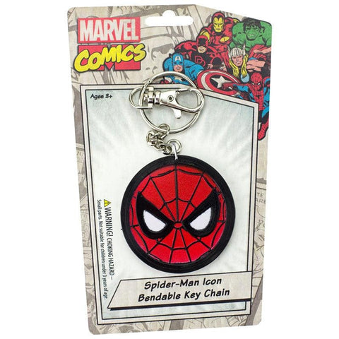 "Spiderman Icon 3"" Bendable Toy With Ring Keychain"