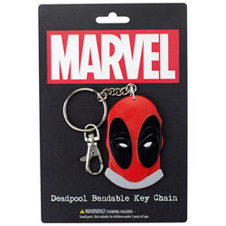 "Deadpool Face 3"" Bendable Toy With Ring Keychain"