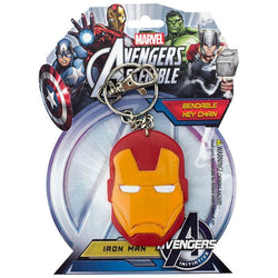 "Ironman Helmet 3"" Bendable Toy With Ring Keychain"