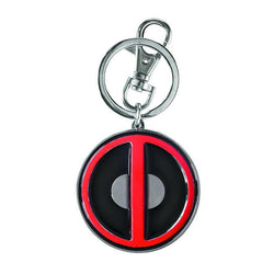 Deadpool Logo Pewter Coloured Keychain