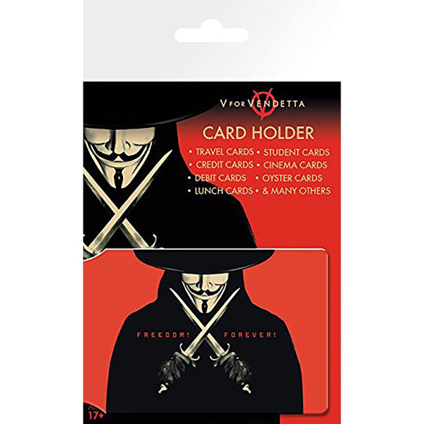 V For Vendetta Freedom Forever Card Holder