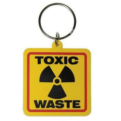 Toxic Waste Rubber Keychain
