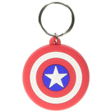 Marvel (Captain America Shield) Rubber Keychain
