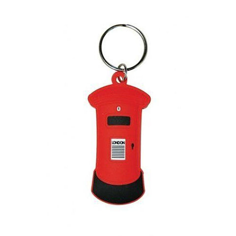 London (Letter Box) Rubber Keychain