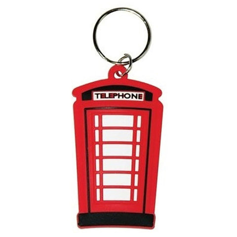 London (Telephone Box) Rubber Keychain